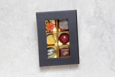 Boîte de 6 chocolats | Pâtisserie Chocolaterie Raffin
